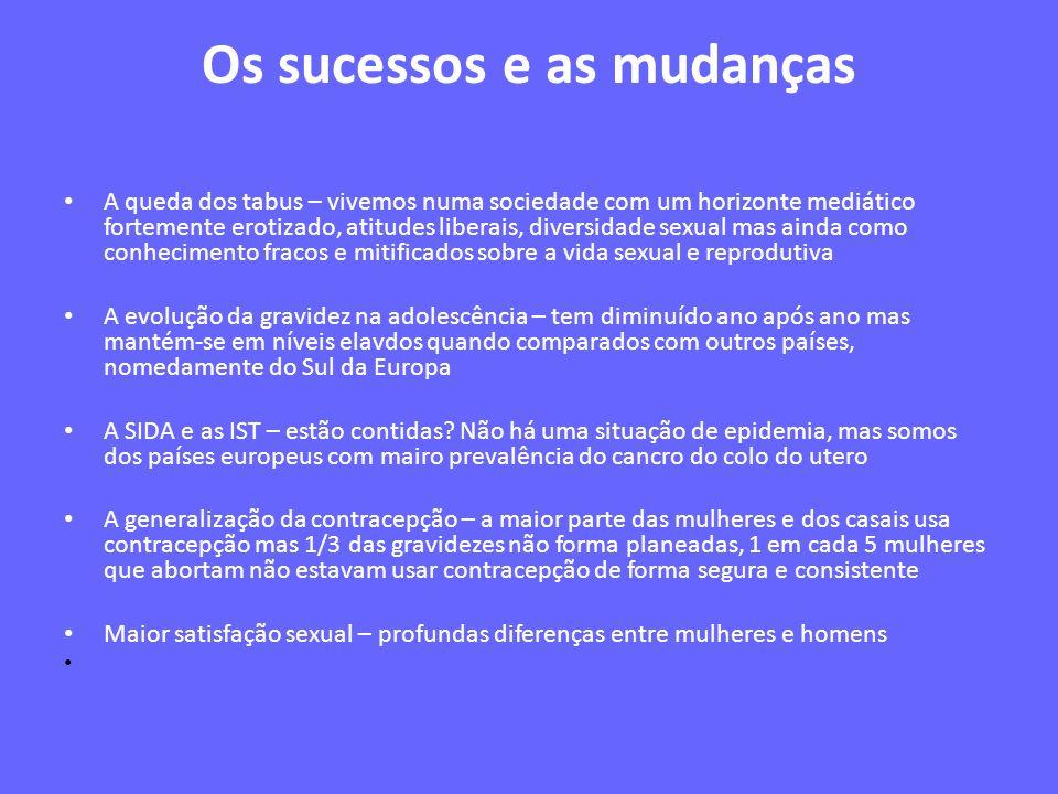 Os sucessos e as mudanças
