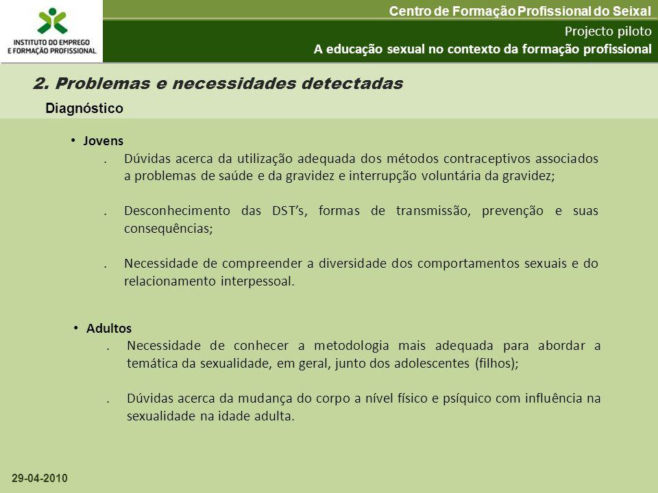 2. Problemas e necessidades detectadas