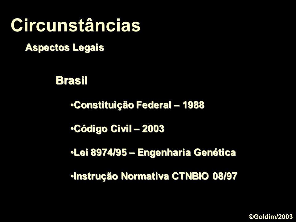 Circunstâncias Brasil Aspectos Legais Constituição Federal – 1988