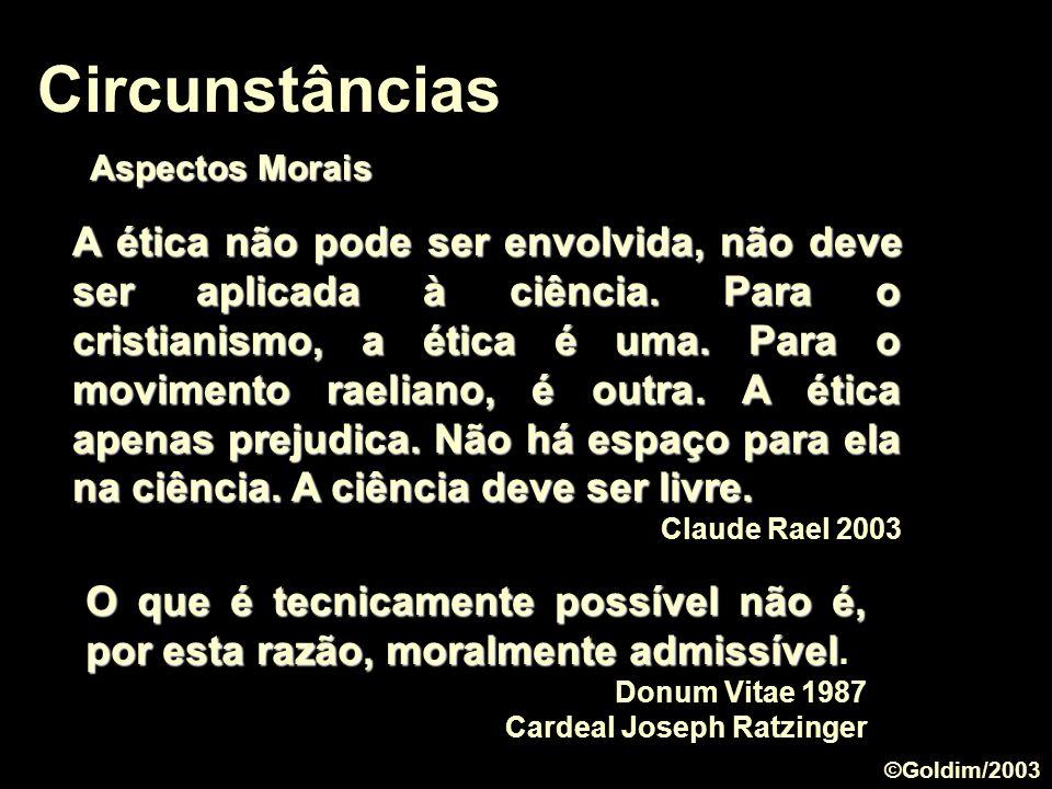 Circunstâncias Aspectos Morais.