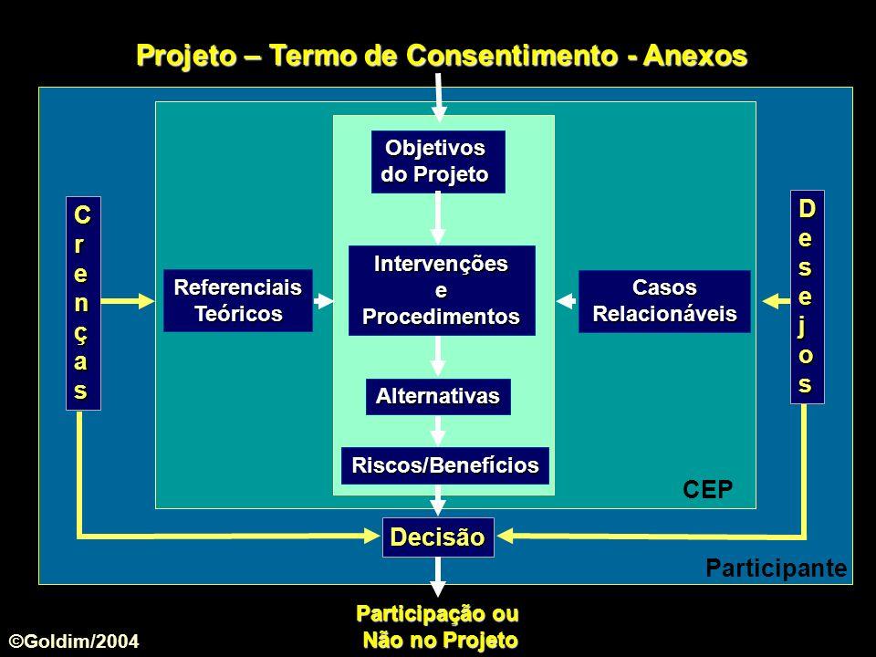 Projeto – Termo de Consentimento - Anexos