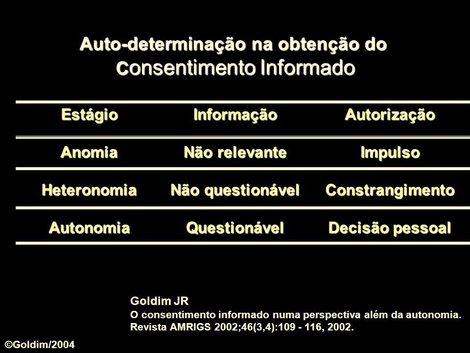 Auto-determinação na obtenção do Consentimento Informado