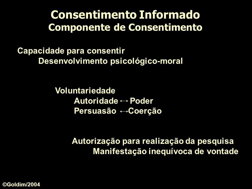 Consentimento Informado Componente de Consentimento