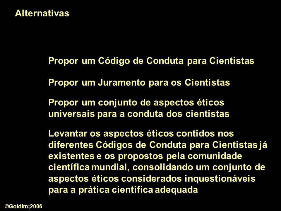 Propor um Código de Conduta para Cientistas
