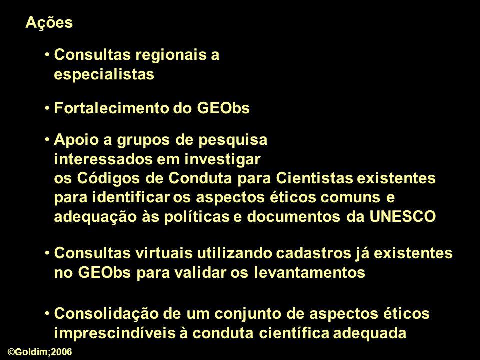 Consultas regionais a especialistas