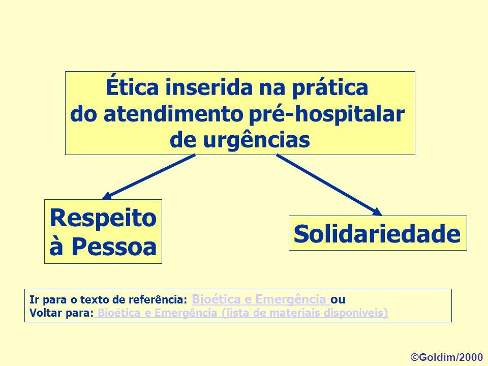 Ética inserida na prática do atendimento pré-hospitalar de urgências