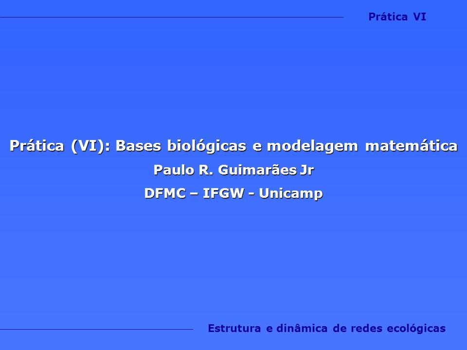 Prática (VI): Bases biológicas e modelagem matemática