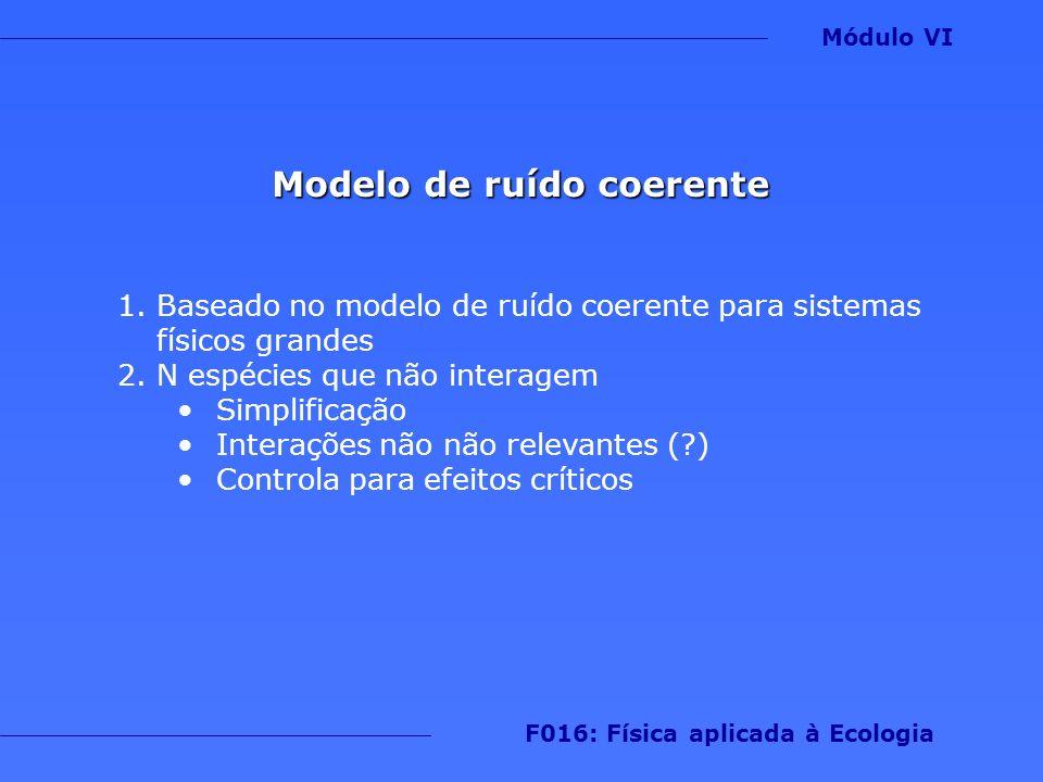 Modelo de ruído coerente F016: Física aplicada à Ecologia