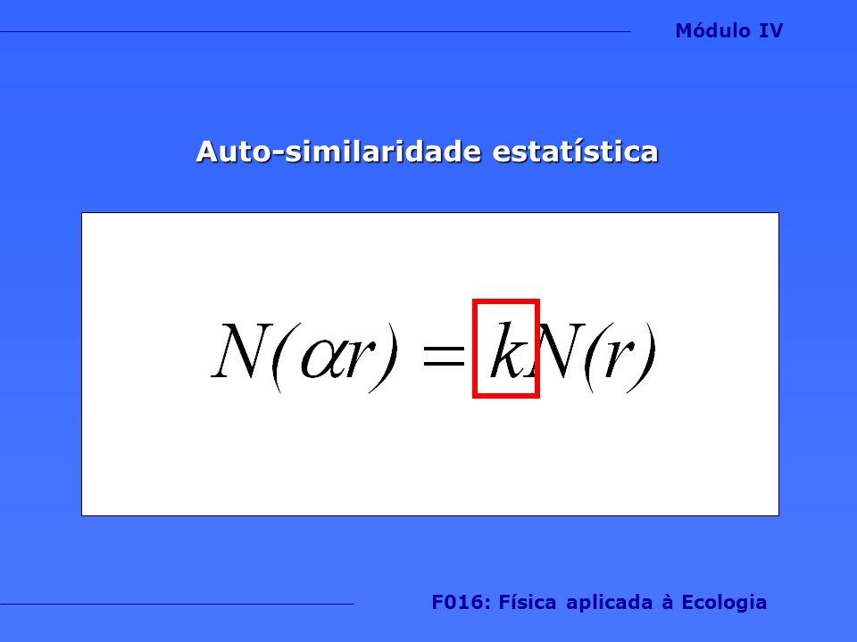 Auto-similaridade estatística F016: Física aplicada à Ecologia
