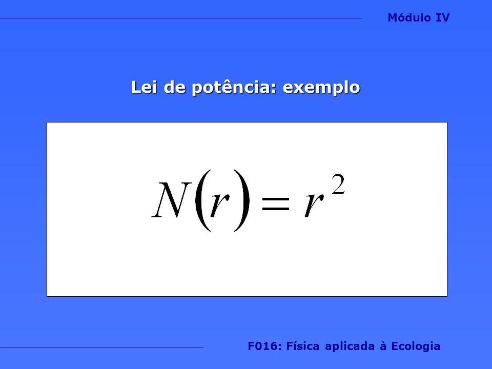 Lei de potência: exemplo F016: Física aplicada à Ecologia