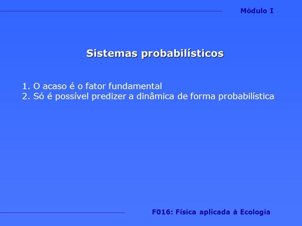 Sistemas probabilísticos F016: Física aplicada à Ecologia