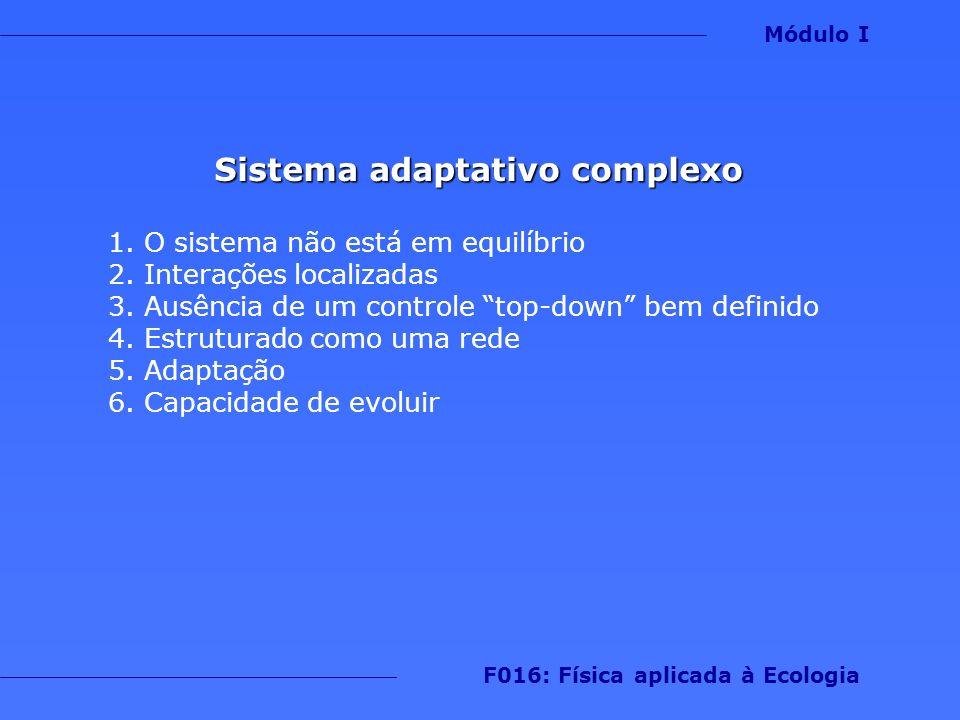 Sistema adaptativo complexo F016: Física aplicada à Ecologia