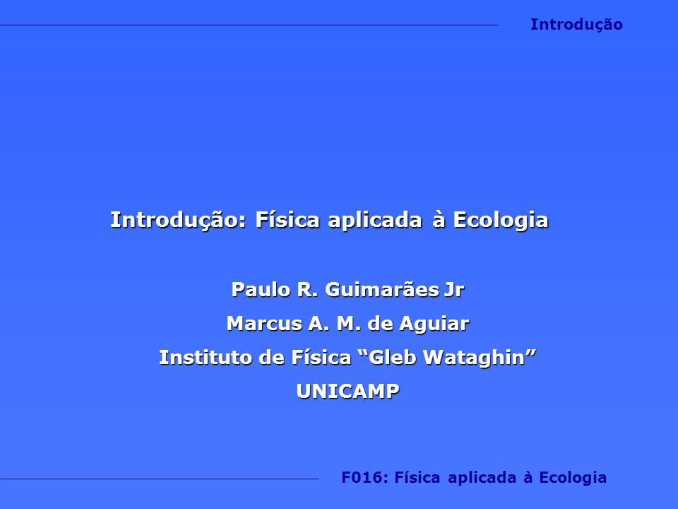 Introdução: Física aplicada à Ecologia