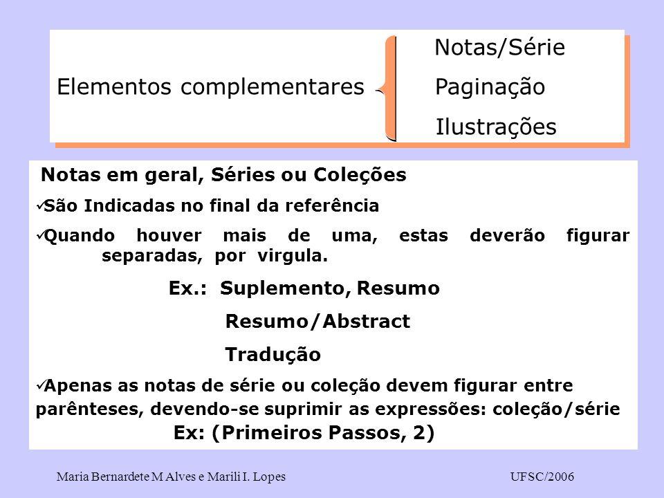 Elementos complementares Paginação Ilustrações