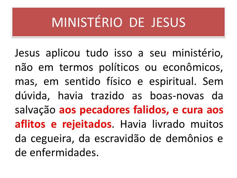 MINISTÉRIO DE JESUS