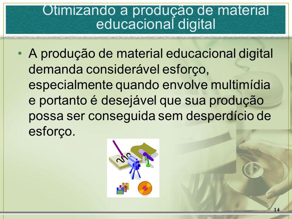 Otimizando a produção de material educacional digital