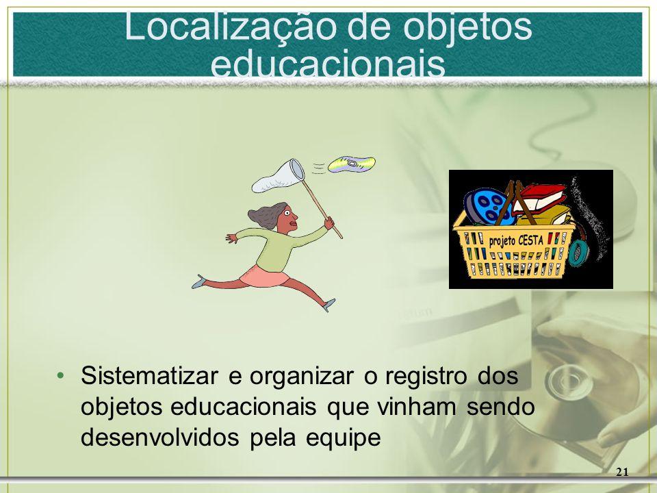 Localização de objetos educacionais