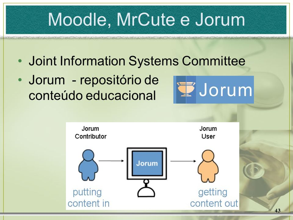 Moodle, MrCute e Jorum Joint Information Systems Committee