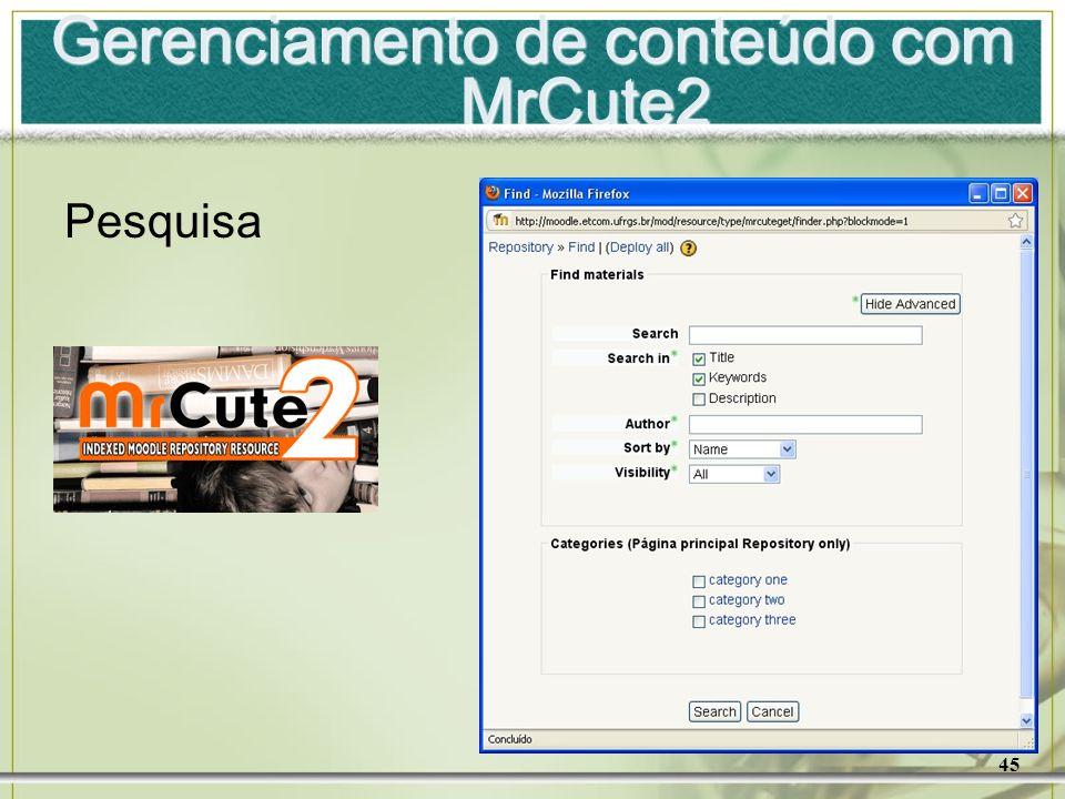 Gerenciamento de conteúdo com MrCute2