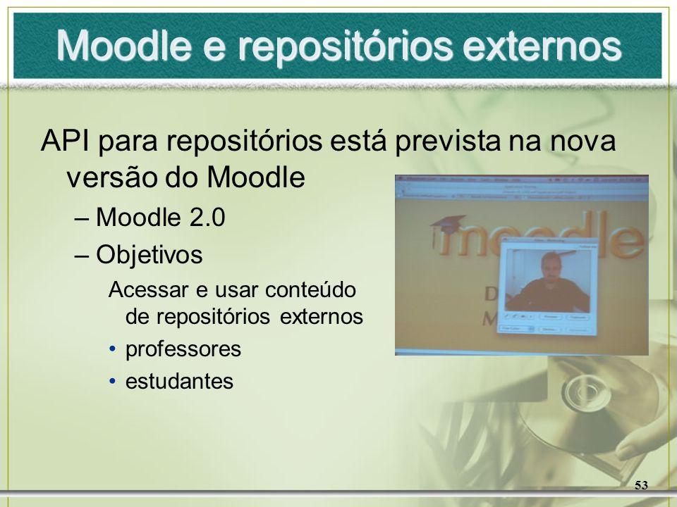 Moodle e repositórios externos