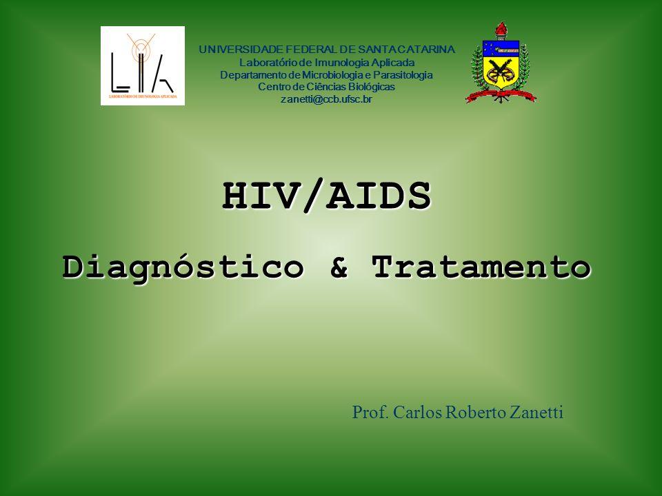 HIV/AIDS Diagnóstico & Tratamento Prof. Carlos Roberto Zanetti