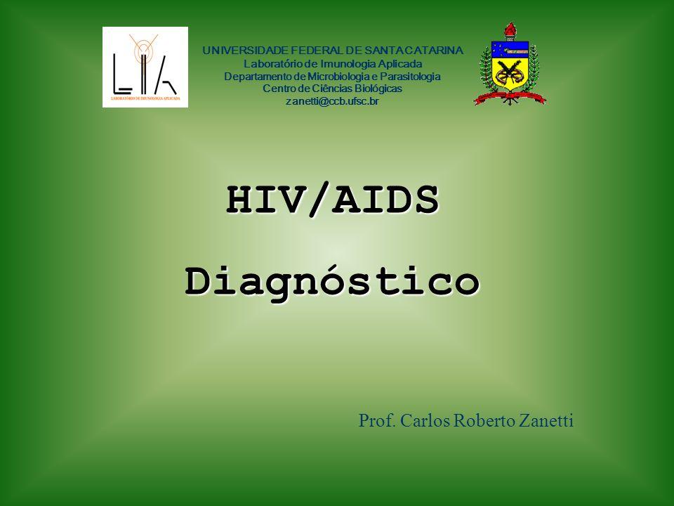 HIV/AIDS Diagnóstico Prof. Carlos Roberto Zanetti