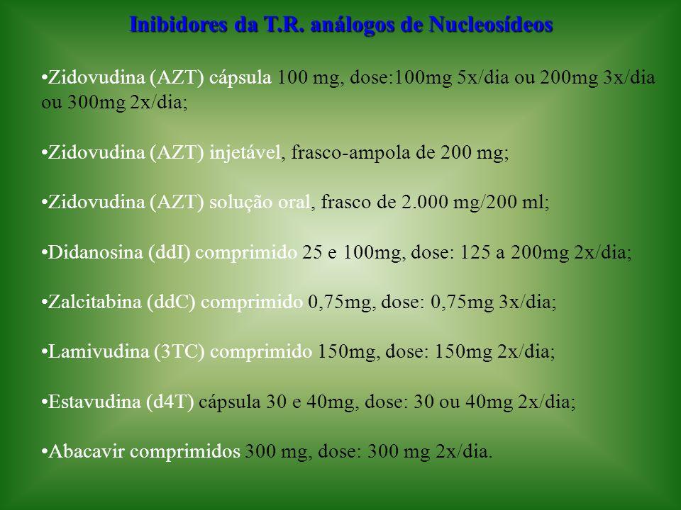 Inibidores da T.R. análogos de Nucleosídeos