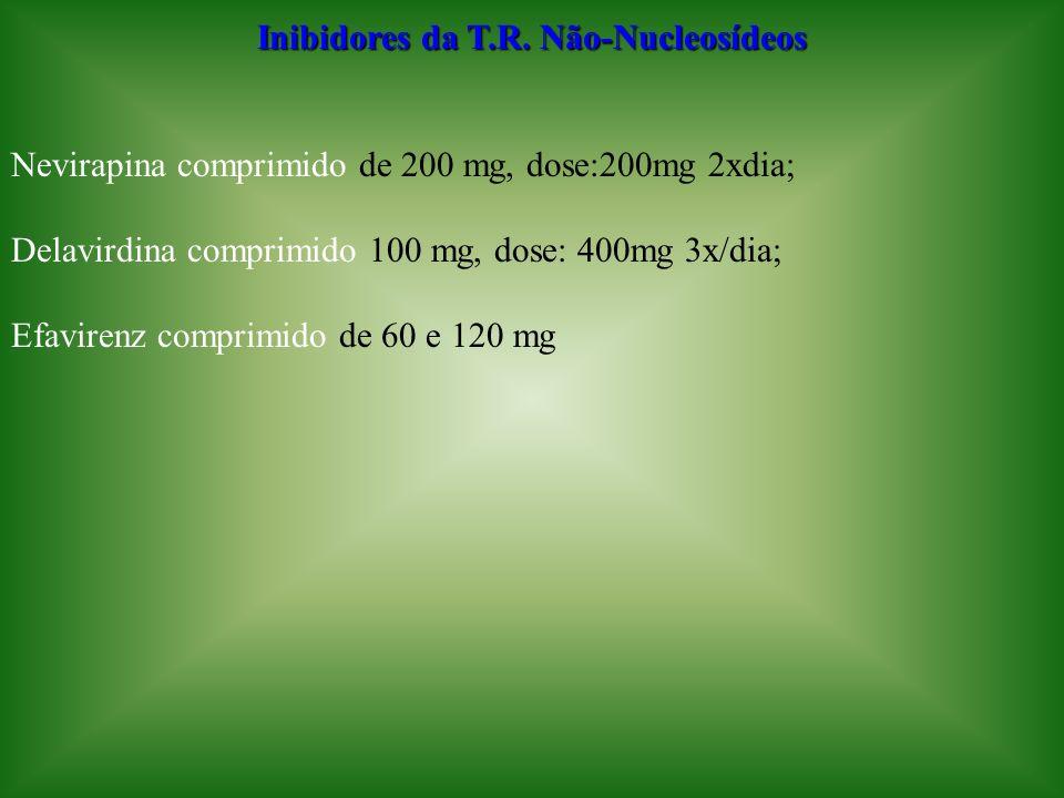 Inibidores da T.R. Não-Nucleosídeos
