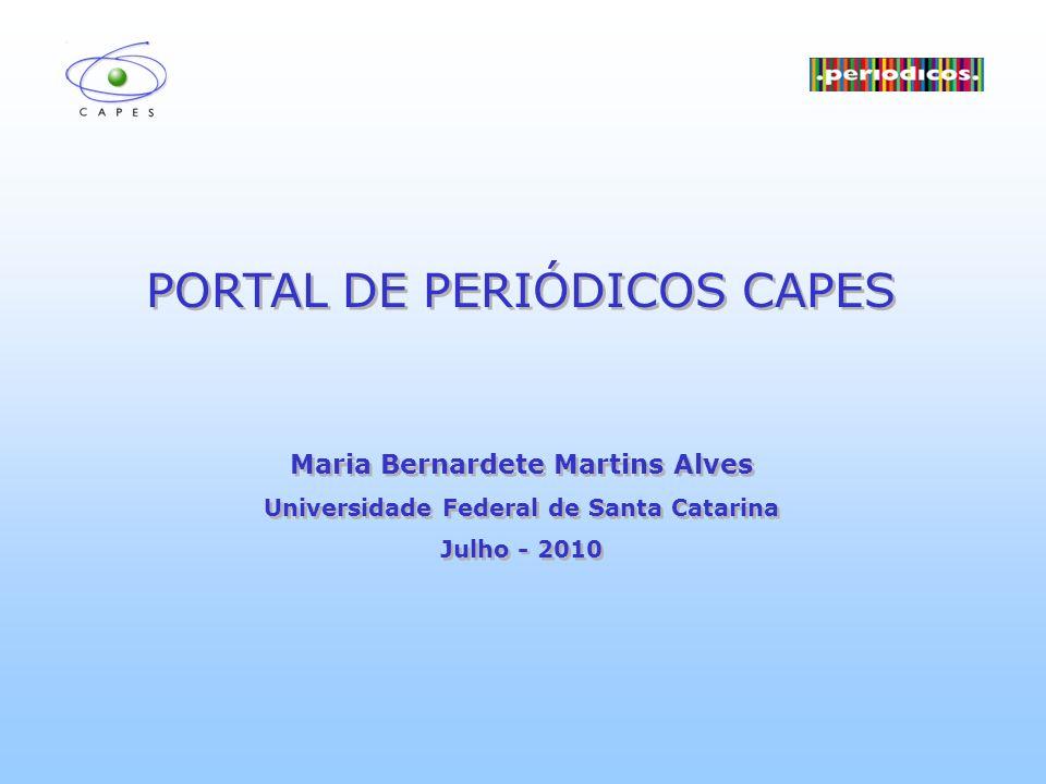 Maria Bernardete Martins Alves Universidade Federal de Santa Catarina