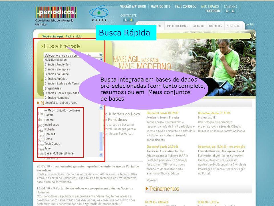 Busca Rápida Busca integrada em bases de dados