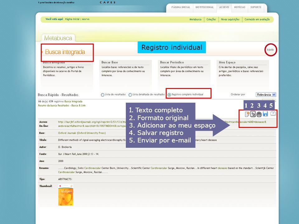 Registro individual 5 4 3 2 1 1. Texto completo 2. Formato original