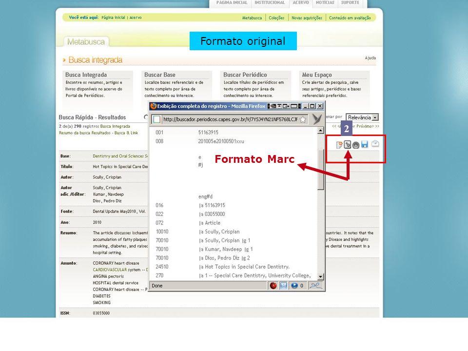 Formato original 2 Formato Marc