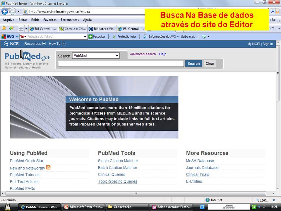 Busca Na Base de dados através do site do Editor