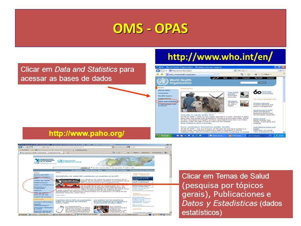 OMS - OPAS http://www.who.int/en/