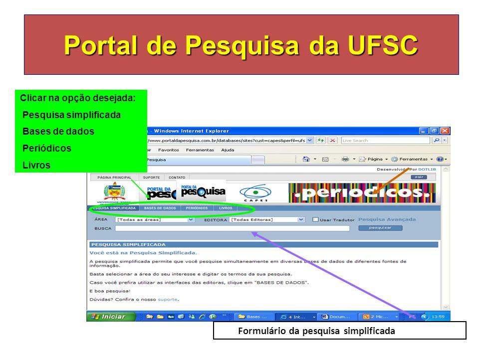 Portal de Pesquisa da UFSC