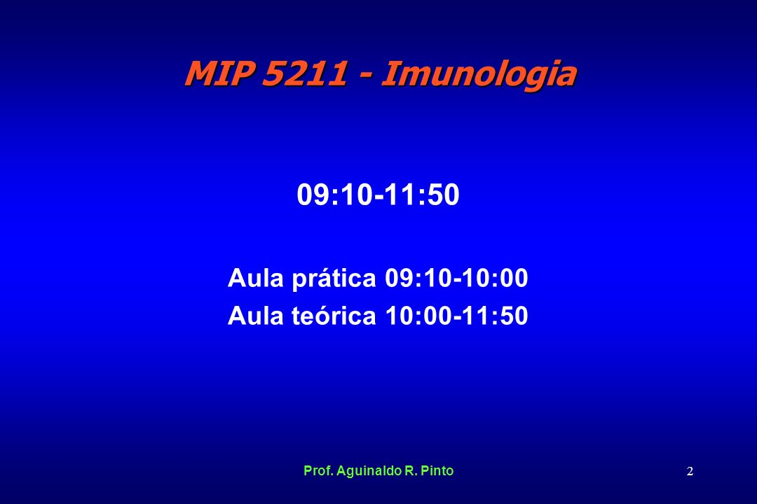 09:10-11:50 Aula prática 09:10-10:00 Aula teórica 10:00-11:50