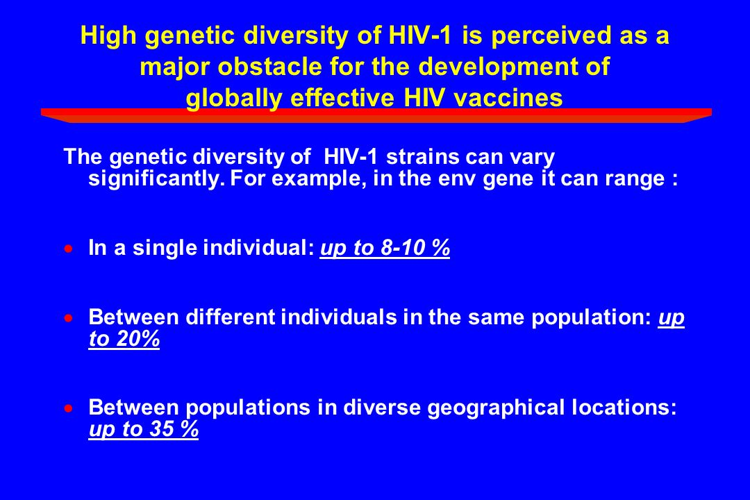 High genetic diversity of HIV-1 is perceived as a major obstacle for the development of globally effective HIV vaccines