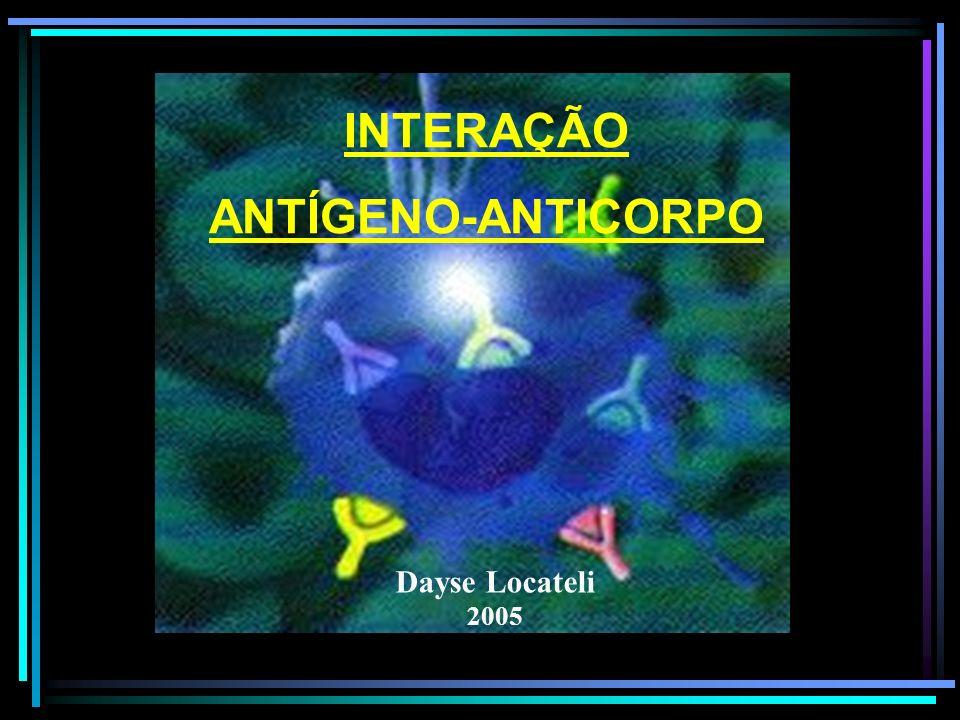 INTERAÇÃO ANTÍGENO-ANTICORPO