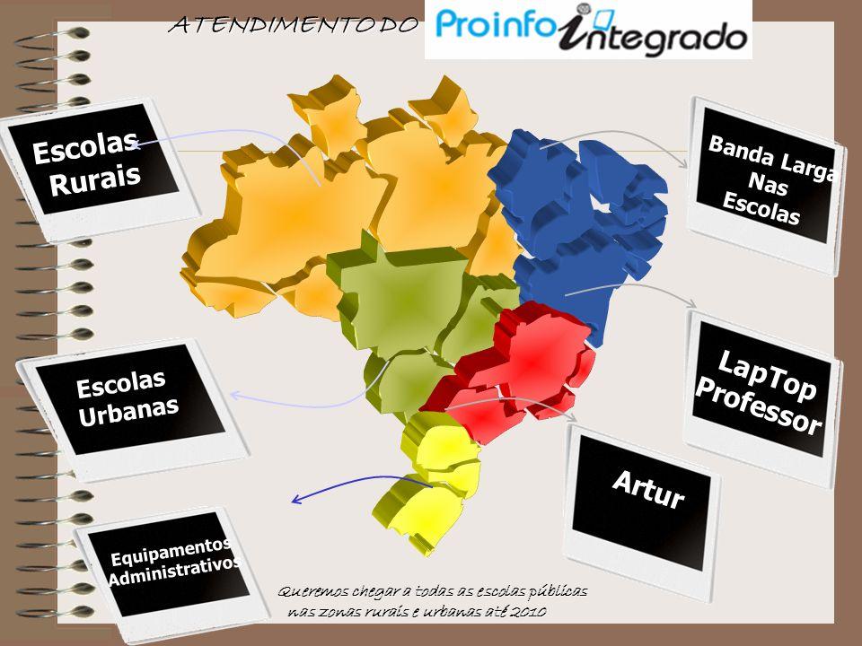 ATENDIMENTO DO Escolas Rurais LapTop Professor Artur Escolas Urbanas