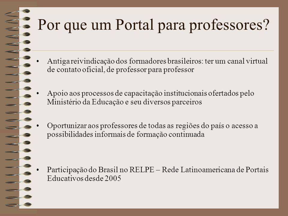 Por que um Portal para professores
