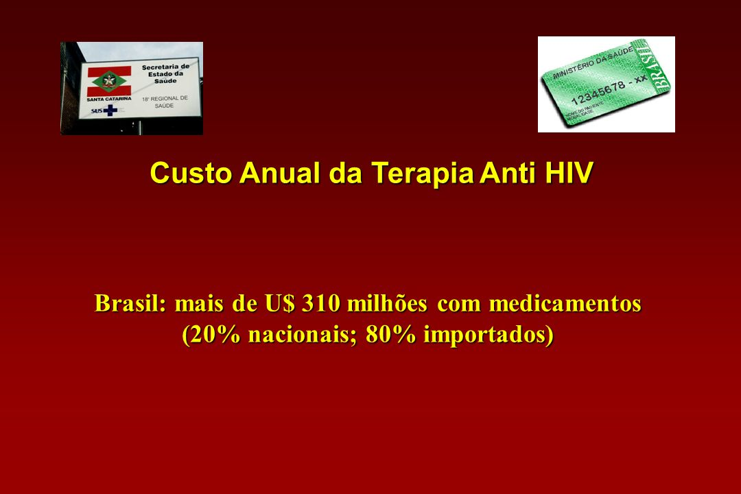 Custo Anual da Terapia Anti HIV