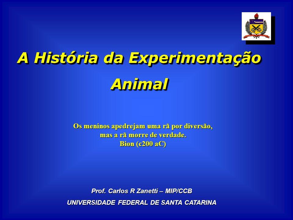 A História da Experimentação Animal