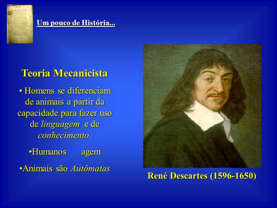 Teoria Mecanicista René Descartes (1596-1650)