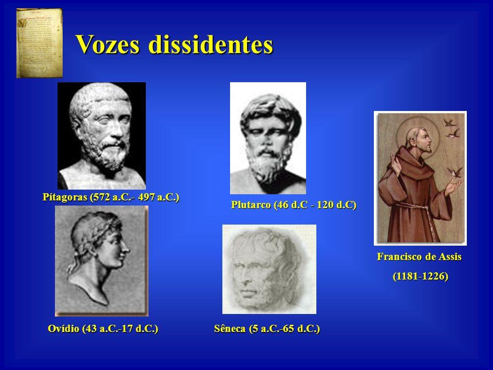 Vozes dissidentes Plutarco (46 d.C - 120 d.C) Francisco de Assis