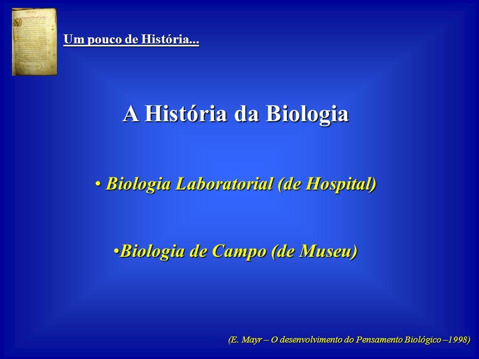 Biologia Laboratorial (de Hospital) Biologia de Campo (de Museu)