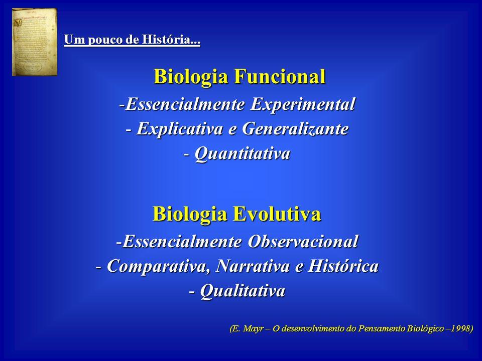Biologia Evolutiva Biologia Funcional Essencialmente Experimental