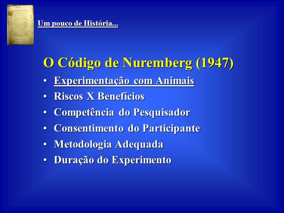 O Código de Nuremberg (1947)