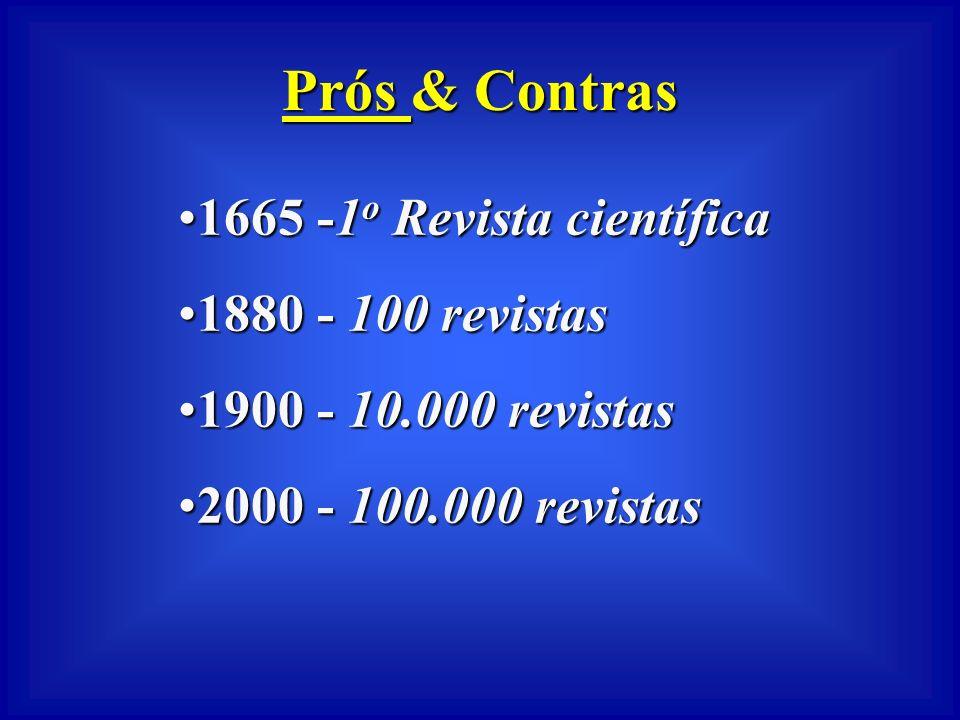 Prós & Contras 1665 -1o Revista científica 1880 - 100 revistas