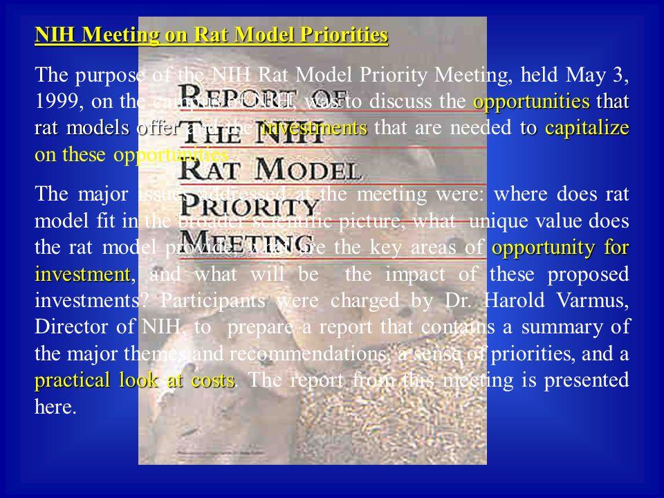 NIH Meeting on Rat Model Priorities