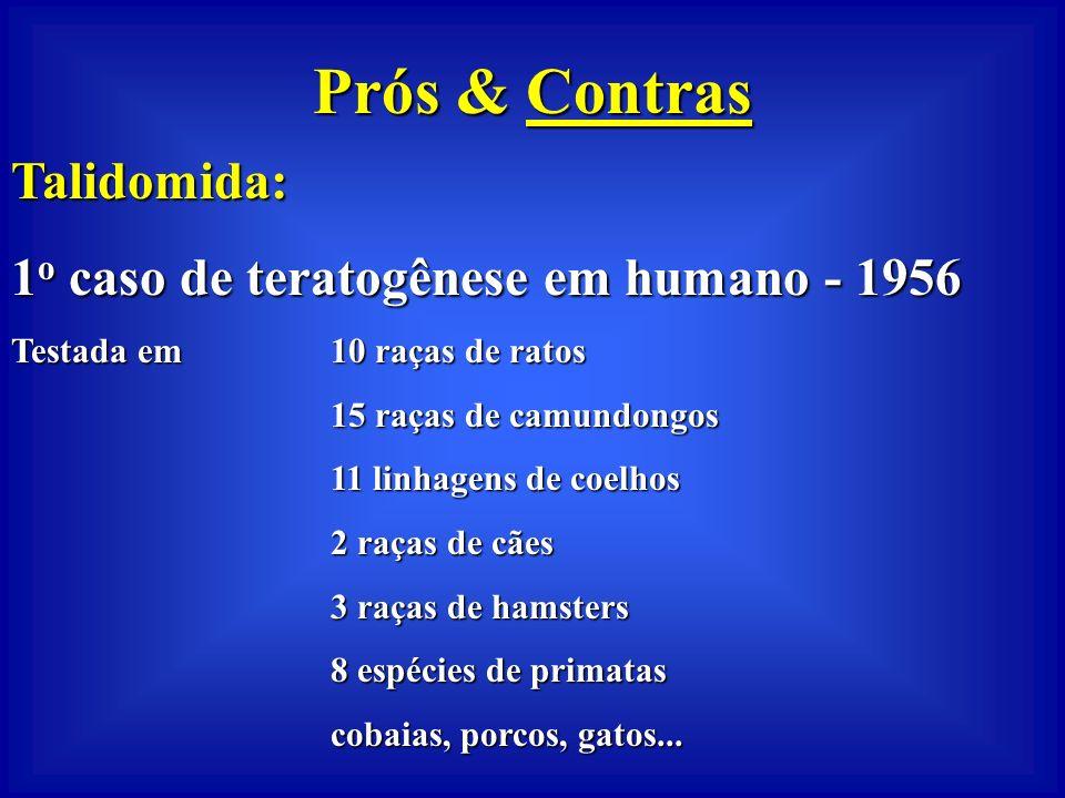 Prós & Contras Talidomida: 1o caso de teratogênese em humano - 1956
